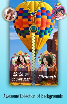 Parachute Zipper Lock Screen poster