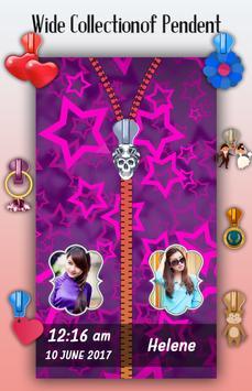 Purple Zipper Lock Screen apk screenshot