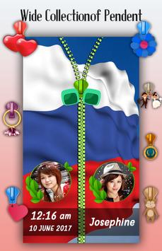 Russia Flag Zipper Lock Screen screenshot 4