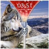 Wolf Zipper Lock Screen icon