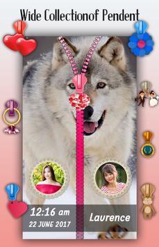 Wolf Zipper Lock Screen apk screenshot