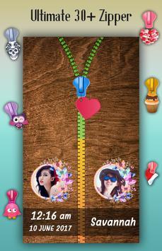 Wooden Zipper Lock Screen apk screenshot