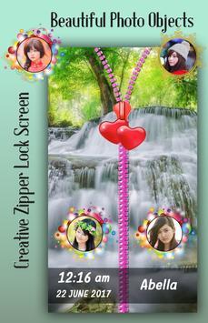 Waterfall Zipper Lock Screen screenshot 2