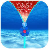 Under Water Zipper Lock Screen icon