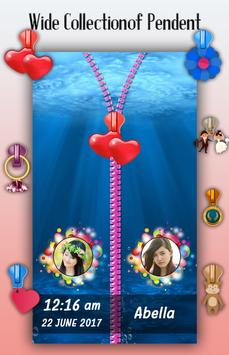 Under Water Zipper Lock Screen apk screenshot