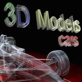 3D Models Cars. icon