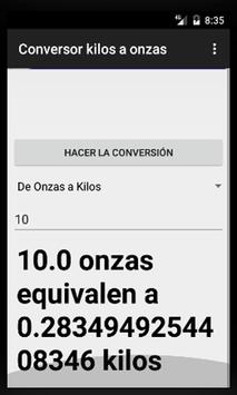 Conversor de Kilos a Onzas poster