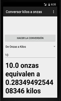 Conversor de Kilos a Onzas screenshot 1