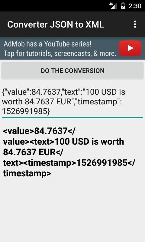 To xml converter