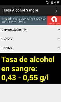 Tasa de Alcohol en Sangre screenshot 1