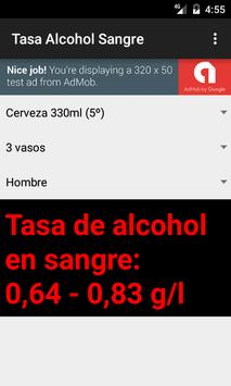 Tasa de Alcohol en Sangre screenshot 2
