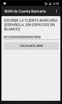 Calcula el IBAN de una Cuenta Bancaria española poster