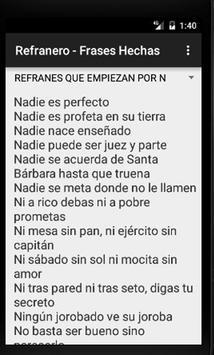 Frases Hechas - Refranero - Refranes Españoles apk screenshot