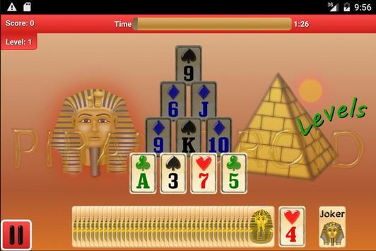 Piramidroid Levels. Card Game apk screenshot