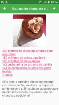 Recetas de mousse en español gratis sin internet. screenshot 7