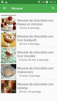 Recetas de mousse en español gratis sin internet. screenshot 4