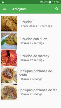 Recetas de antojitos gratis español sin internet. screenshot 2