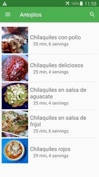Recetas de antojitos gratis español sin internet. screenshot 4