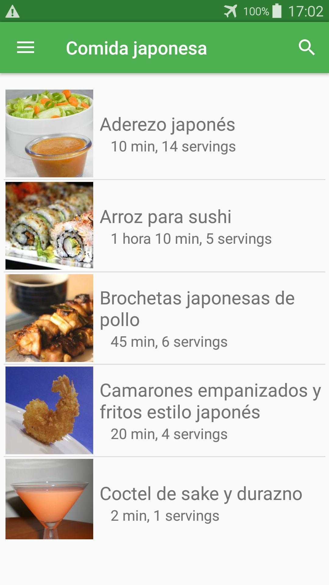Recetas De Comida Japonesa En Español Gratis For Android