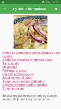 Recetas de pescados y mariscos en español gratis. screenshot 1