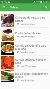 Recetas de salsas en español gratis sin internet. screenshot 4