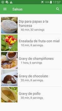 Recetas de salsas en español gratis sin internet. screenshot 6
