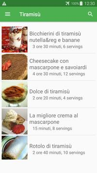Tiramisù ricette di cucina gratis in italiano. poster