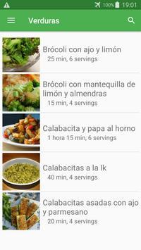 Recetas de verduras en español gratis sin internet screenshot 4