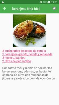 Recetas de verduras en español gratis sin internet screenshot 3
