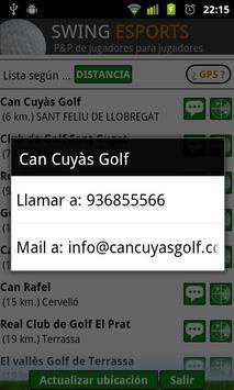 swing golf, campos y asistente apk screenshot