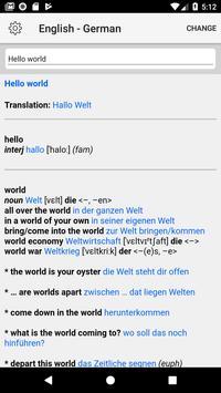 German Dictionary apk screenshot