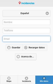 Incidencias Moncada screenshot 3