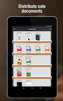urCollection, sales force app poster
