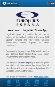 Legal Aid Spain poster