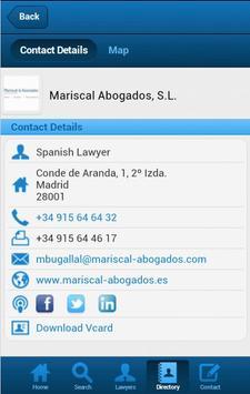 Legal Aid Spain apk screenshot