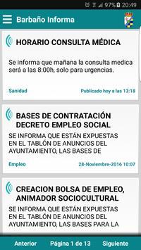 Barbaño Informa poster
