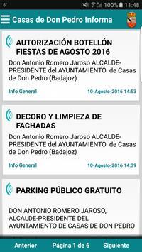 Casas de Don Pedro Informa poster