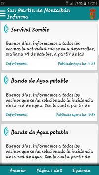 San Martín de Montalbán Inform poster