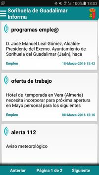 Sorihuela de Guadalimar Infor. poster