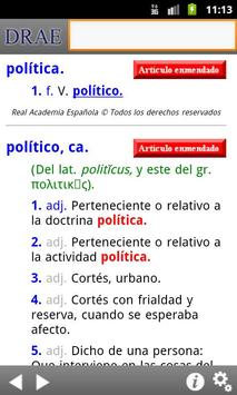 Diccionario de la RAE apk screenshot