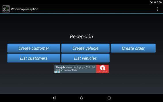 Workshop Reception. apk screenshot