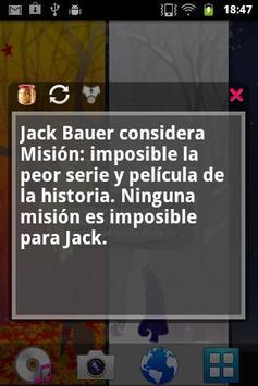 Hechos de Jack Bauer apk screenshot