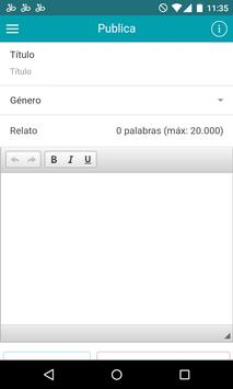 Yarning relatos apk screenshot