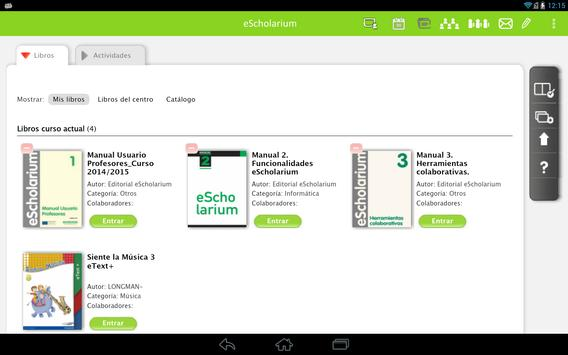 eScholarium screenshot 2