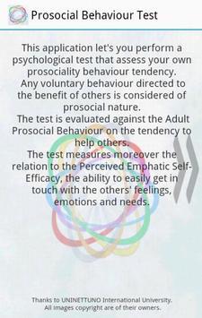 Prosociality Test poster