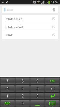 Teclado Simple screenshot 1
