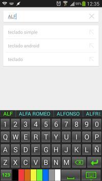 Teclado Simple screenshot 2