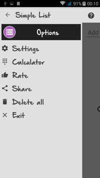 Simple List screenshot 1