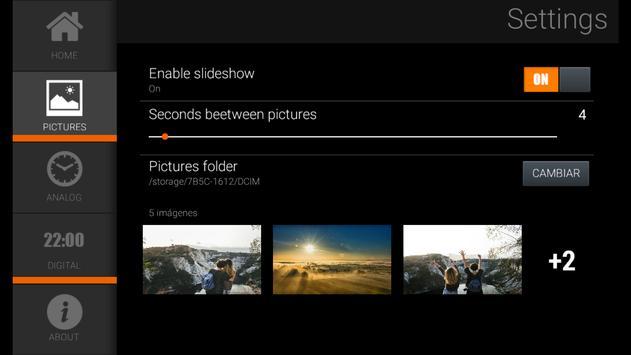 Clock and Photo Slideshow screenshot 4