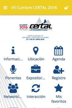 VII Cumbre CERTAL 2016 poster